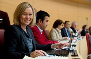 Doris MdL im Plenum des Bayerischen Landtags (2017)