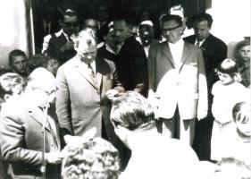Besuch von Willy Brand in Ebersberg (1962) Foto Helmut Wohner