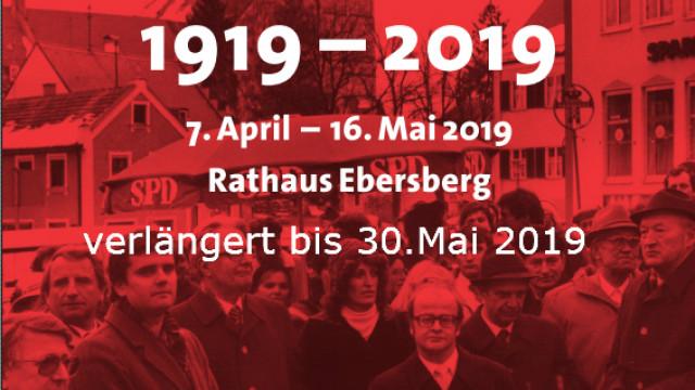 Plakat 100 Jahre SPD OV Ebersberg